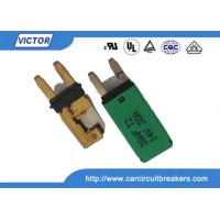 Quality Blade Fuse Manual / Auto Reset Circuit Breaker 15A 28Vdc With Ignition Protected wholesale
