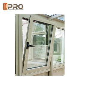 Quality Wood Grain Casement Glass Tilt N Turn Windows Double Glazed Aluminum Profile wholesale