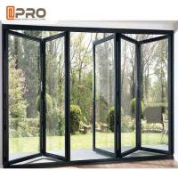 China Energy Saving Aluminum Folding Doors High Temperature Resistant Color Optional on sale