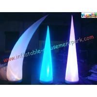 Quality LED RGB Color Inflatable Lighting Decoration Cone Tusk Pillar 53CM x 52CM x 19CM wholesale