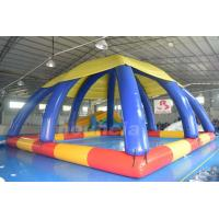 Quality Commercial Grade PVC Tarpaulin Inflatable Water Pool With Tent wholesale