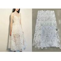Quality Shiny Sequin Embroidered Floral Beaded Bridal Lace Fabric Light And Transparent Texture wholesale