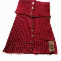 China Ladies' Fashion Knitted Shawl, Made of Acrylic on sale