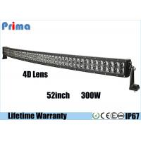 China Double Row 4D 300W 52 Inch Curved LED Light Bar For SUV Cool White 6000K on sale