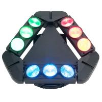 Quality Disco Lighting 9 Heads 10W 4 IN 1 LED Spider Moving Head Beam Light Energy Saving  X-93 wholesale