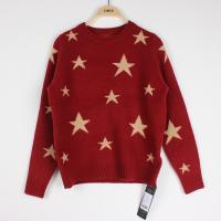 Quality Knit Jacquard Sweaters Star pattern Cindy Red Plus Size Clothes wholesale