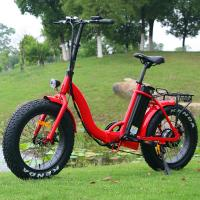 China Popular 20 Inch Folding Electric Bike Red Color Motor Power 48V 500W CE Approved on sale