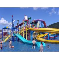 Quality Water Playground Equipment Commercial Spiral Water Slide 23 * 22 * 12m wholesale
