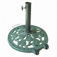 China 12kg cast iron parasol base, steel tube with painting for surface, suitable for 38 or 48mm pole on sale