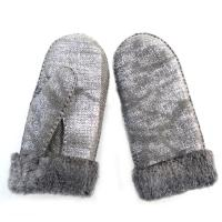 China Wholesale Warm Shearling Lambskin mittens gloves winter on sale
