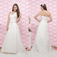 Quality Strapless Bustled Gown, ODM Orders are Welcome, Available in Floor or Extra Length wholesale