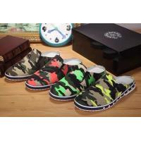 Quality 2014new C-hrome hearts male recreational canvas slippers camouflage designer top men shoes wholesale