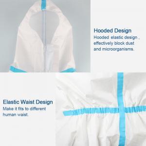 Quality Splash Repellent Disposable Protective Clothing , Non Woven Disposable Protective Coveralls wholesale
