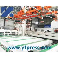 China automatic melamine lamination hot press/melamine laminate line on sale