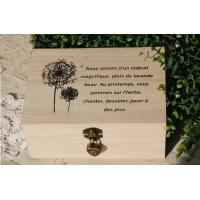 Quality wooden gift box with lock wholesale