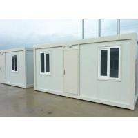 Quality Steel Door Living Container House , Mobile Office Containers With Doorhead Lamp wholesale