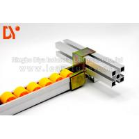 Quality Assemble Line Roller Track Conveyor , Small Roller Track Yellow Color wholesale