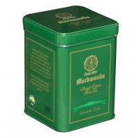 Buy cheap Double - Lid Green Tea Tin Canisters Square Shape And Clear Vanished Inside product