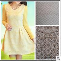 Buy cheap Grade knitted lace jacquard fabric/Thin fabric long sleeve dress product