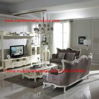 Quality Neoclassical Living Room Furniture by Pure white Wall Unit and Coffee table with Luxury Sofa set wholesale