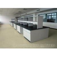 Quality Floor Mounted Stee Lab Bench / Modular Laboratory Furniture With Stools wholesale