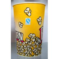Buy cheap Yellow Paper Ice Cream Cups 100ml , 170ml , 200ml Takeaway Coffeae Cups from wholesalers