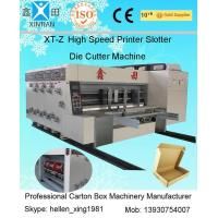 Quality Flexo Printing Corrugated Carton Machinery With Stacker High Speed 100 Pcs / Min wholesale