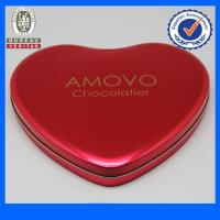 Quality Fancy Pantone Heart Shaped Tin Gift  Boxes , Chocolate Tin Cans wholesale