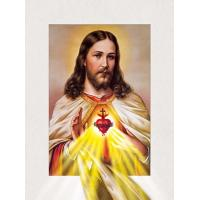 Quality Customized 30x40cm Religion Images 5D Lenticular Printing Services PET 0.6mm Thickness wholesale