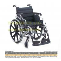 China Dual over center cross links Aluminum Wheelchairs with anti wheel, adjustable footplate on sale