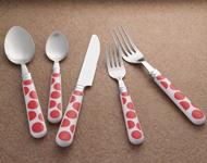 Quality 24pcs cutlery set with plastic handle wholesale