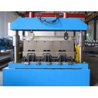 Quality Metal Floor Deck Roll Forming Machine , Skyscrapers Field Sheet Metal Roll Former wholesale