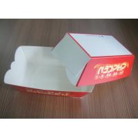 Quality Red Fast Food Paper Box For Food On The Go , OEM Logo Printed wholesale