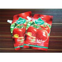 Quality Flexible Packaging Stand Up Bags With Spout Tomato Sauce Packaging Bag With Spout wholesale