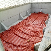Quality 1.0mm PVC coated Tarpaulin 500 tons Slurry Storage Red or Army Green Methane Storage Tank wholesale