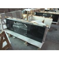 Quality Absolute Black Granite Vanity Top , 2cm Thick Natural Solid Surface Vanity Tops wholesale
