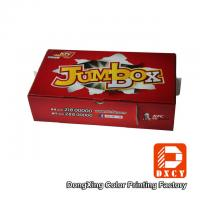 China Corrugated Cardboard Fast Food Boxes Packaging Recyclable Red Varnish Coating Printing on sale