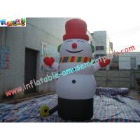 Quality PVC Inflatable Christmas Decorations Santa Snowman For Advertising wholesale