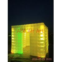 Quality oxford fabricbigger size 3mL x3mW x2.4m H led lighting inflatable photo booth for rental wholesale