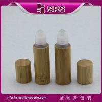 China SRS 5ml bamboo roller ball bottle, bamboo roll on bottle with plastic ball on sale