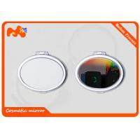 Quality Travel Cosmetic Sublimation Compact Mirror For Girls Iron Plating wholesale