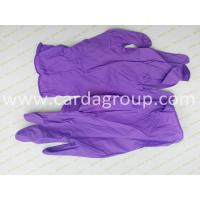 China Purple Nitrile Gloves on sale