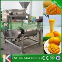 China High quality mango juice extractor machine/mango juice processing machine fruit pulper carbon steel pan on sale