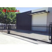 Quality Galvanized Steel Spear Top Security Fencing Heavy Duty 2 Rail Powder Coated wholesale