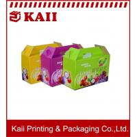 Quality Colorful Fruit Packaging Box / Paper Packing Boxes With  A9 + 157g Art Paper For Promotion wholesale