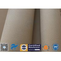 China Brown Silica Fabric 1400℉ 1200G 1.3MM 36 High Temp Insulation Blanket on sale