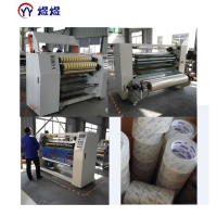 Quality 1800kg Transparent Bopp Tape Jumbo Roll Adhesive Slitting Machine wholesale
