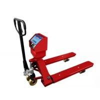 Buy cheap Red Hand Operated Pallet Truck Scales 1.5T 2T 3T Carbon Steel For Food Industry from wholesalers