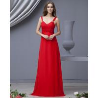 Quality Graceful Red Strapless long party dresses with flower for Summer , Spring wholesale