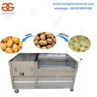 Quality Best Carrot and Potato Brush Washing Machine Price|Potato and Carrot Brush Washer and Peeler Machine for Sale wholesale